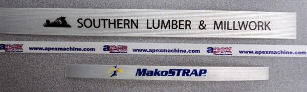 Printed strapping samples